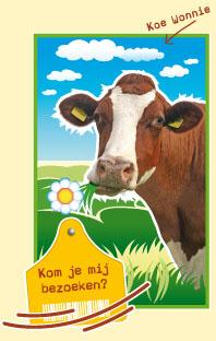 Mijn naam is Koe Wonnie de 'twitterende koe'.