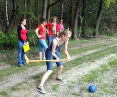 Fietsen door een prachtig stukje natuur en onderweg een potje boerengolf spelen.