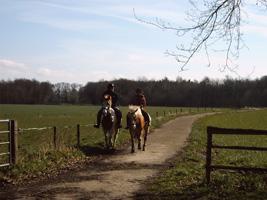 Mensen met paarden hebben de hemel op aarde