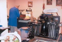 De drukkerij is een handelsdrukkerij zoals die vanaf de jaren dertig tot tachtig in gebruik was.