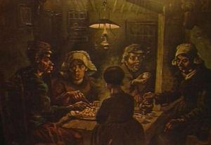 Vincent van Gogh woonde en werkte in Nuenen van 1883 tot 1885.